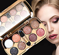 cheap -8pcs EyeShadow Formaldehyde Free Combination Shadow Powder Smokey Makeup / Cateye Makeup / Fairy Makeup