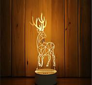 1 Set Of 3D Mood Night Light Hand Feeling Dimmable USB Powered Gift Lamp Deer