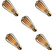 cheap -5pcs 40W E26/E27 ST58 Warm Yellow 2200-3000 K Dimmable Incandescent Vintage Edison Light Bulb AC 220-240V V