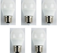 cheap -5pcs 4W 310 lm E27 LED Globe Bulbs G45 6 leds SMD 3528 Warm White AC 180-240