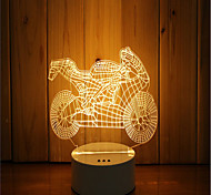 1 Set Of 3D Mood Night Light Hand Feeling Dimmable USB Powered Gift Lamp Motorcycle
