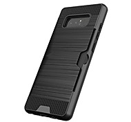cheap -Case For Samsung Galaxy Note 8 Note 5 Card Holder Shockproof Back Cover Solid Color Hard Plastic for Note 8 Note 5