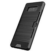 preiswerte -Hülle Für Samsung Galaxy Note 8 Note 5 Kreditkartenfächer Stoßresistent Rückseite Volltonfarbe Hart Kunststoff für Note 8 Note 5