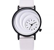 Недорогие -Жен. Повседневные часы Модные часы Наручные часы Китайский Кварцевый Крупный циферблат Натуральная кожа Группа На каждый день Черный