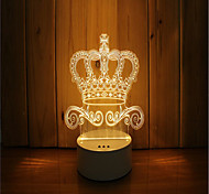 1 Set Of 3D Mood Night Light Hand Feeling Dimmable USB Powered Gift Lamp Crown