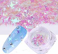 Недорогие -1шт Блестящие Лазерная голографическая Пайетки 1 # Дизайн ногтей