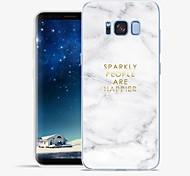 Недорогие -Кейс для Назначение SSamsung Galaxy S8 Plus S8 С узором Чехол Слова / выражения Мрамор Мягкий ТПУ для S8 Plus S8 S7 edge S7 S6 edge plus