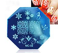 3 шт глянцевая печать шаблон рождественская печать плита восьмиугольный шаблон mc серия 3 цвет смешанные женские украшения косметические