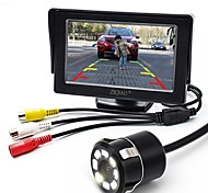 cheap -ZIQIAO 4.3 Inch Monitor and 8LED CCD HD Car Rear View Camera