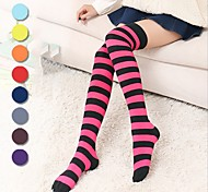 cheap -Socks / Long Stockings Sweet Lolita Dress Earring Princess Lolita Women's Ink Blue Fuschia Yellow Green Red Lolita Accessories Lines /