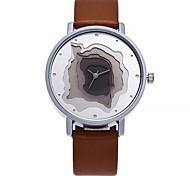 Недорогие -Жен. Модные часы Китайский Кварцевый Крупный циферблат Кожа Группа На каждый день минималист Черный Белый Синий Коричневый Серый Розовый