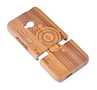 Недорогие -Кейс для Назначение HTC Защита от удара Задняя крышка Геометрический рисунок Твердый Бамбук для HTC One M7