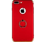 Недорогие -Кейс для Назначение Apple iPhone 7 iPhone 7 Plus iPhone 6 iPhone 6 Plus Покрытие Кольца-держатели Задняя крышка Композиция с логотипом