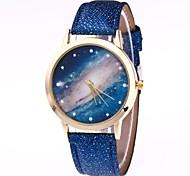 cheap -Women's Wrist watch Chinese Quartz Casual Watch PU Band Colorful Black White Blue Brown Green Pink Rose