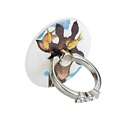 cheap -Round diamond series - Phone ring 360 degree rotation - Bird deer    material Metal and ABS