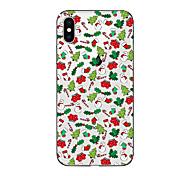 Кейс для Назначение Apple iPhone X iPhone 8 Plus iPhone 7 iPhone 7 Plus iPhone 6 Полупрозрачный С узором Задняя крышка Рождество Мягкий