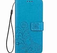 Недорогие -Кейс для Назначение OnePlus Один плюс 3 OnePlus 5T 5 Бумажник для карт со стендом Магнитный Рельефный Чехол Цветы Твердый Кожа PU для One