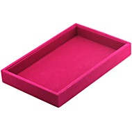 cheap -Jewelry Boxes Cufflink Box Cloth Fabric Square Linen Black White Red Candy Pink Light Gray