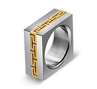 Недорогие -Муж. Жен. Классические кольца Простой Мода Нержавеющая сталь Геометрической формы Бижутерия Подарок Официальные