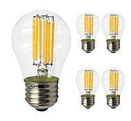 cheap -5pcs 6W 560lm E27 LED Filament Bulbs G45 6 LED Beads COB Edison Bulb LED Light Warm White Cold White 220-240V