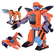 Недорогие -Робот Конструкторы Игрушки Классика трансформируемый Классика Новый дизайн Мягкие пластиковые Куски
