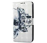 cheap -Case For Huawei P9 lite mini Card Holder Wallet with Stand Flip Magnetic Pattern Full Body Cases Skull Hard PU Leather for P9 lite mini