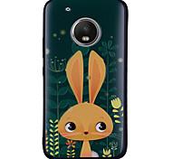 Недорогие -Кейс для Назначение Motorola G5 Plus G5 С узором Кейс на заднюю панель Кролик Мягкий Силикон для Мото G5 Plus Moto G5 Мото G4 Plus Moto