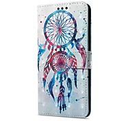 Недорогие -Кейс для Назначение Huawei Mate 10 pro Mate 10 lite Бумажник для карт Кошелек со стендом Флип С узором Магнитный Чехол Ловец снов Твердый