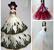 preiswerte -Prinzess-Linie Kleider Für Barbie-Puppe Kleider Für Mädchen Puppe Spielzeug