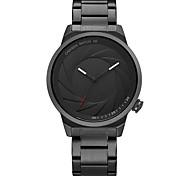 Недорогие -Жен. Модные часы Японский Кварцевый Защита от влаги Повседневные часы Нержавеющая сталь Группа Cool Мода Черный