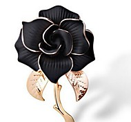 Недорогие -Жен. Броши Бижутерия Классика Elegant Мода Сплав Цветы Белый Черный Бижутерия Назначение Повседневные Официальные