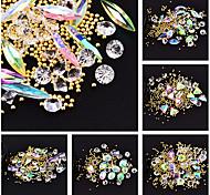 Недорогие -нарядные бриллианты хрустальные глянцевые многоцветные наборы