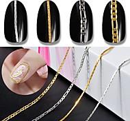 Недорогие -Дизайн украшения металлический Аксессуары Мода Высокое качество Повседневные Дизайн ногтей Цепочка
