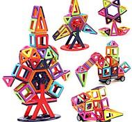 Недорогие -Магнитный конструктор Игрушки Автомобиль Транспорт трансформируемый Взаимодействие родителей и детей Классика Мягкие пластиковые 40 Куски