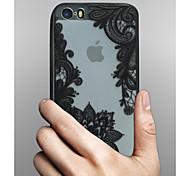 cheap -Case For Apple iPhone X iPhone 8 iPhone 5 Case iPhone 6 iPhone 6 Plus Transparent Pattern Back Cover Lace Printing Hard PC for iPhone X