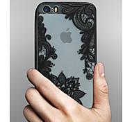 preiswerte -Hülle Für Apple iPhone X iPhone 8 iPhone 5 Hülle iPhone 6 iPhone 6 Plus Transparent Muster Rückseite Lace Printing Hart PC für iPhone X