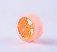 abordables -cangrejo Kingdom® diy piezas del coche educativo coche rueda tt neumático del motor 1 unids naranja y transparente # 4