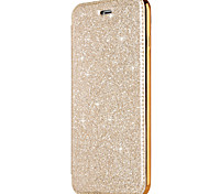 cheap -Case For Apple iPhone X iPhone 8 Card Holder Plating Flip Full Body Cases Solid Color Glitter Shine Hard PU Leather for iPhone X iPhone 8