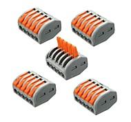 Недорогие -zdm 5pcs et25 2/3/5 штырьки 32a разъем для пружинных клемм электрический разъем для кабеля