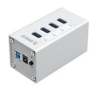 Недорогие -orico a3h7 алюминиевый USB 3.0 концентратор концентратора с 7 портами с адаптером питания 12v2a и 3,3 фута. кабель передачи данных usb3.0