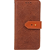 cheap -Case For Samsung Galaxy S9 S9 Plus Card Holder Wallet with Stand Flip Embossed Full Body Cases Solid Color Hard PU Leather for S9 Plus S9
