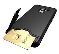 abordables -Funda Para Samsung A8 2018 A8 Plus 2018 Soporte de Coche Antigolpes con Soporte Funda Trasera Color sólido Dura ordenador personal para