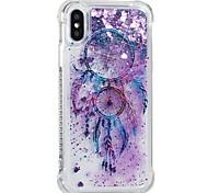 Недорогие -Кейс для Назначение Apple iPhone X iPhone 8 Защита от удара Движущаяся жидкость С узором Кейс на заднюю панель Ловец снов Мягкий ТПУ для