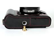 preiswerte -Dengpin pu-leder half camera case tasche abdeckung basis für fujifilm x-t10 xt10 (verschiedene farben)