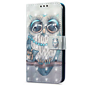 cheap -Case For Huawei P9 lite mini Card Holder Wallet with Stand Flip Magnetic Pattern Full Body Cases Owl Hard PU Leather for P9 lite mini