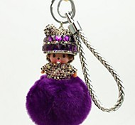 cheap -Keychain Jewelry Leather Imitation Diamond Alloy Princess Sweet Lovely Gift Daily