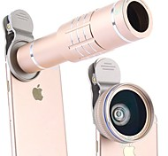 cheap -Mobile Phone Lens Long Focal Lens Wide-Angle Lens Macro Lens Aluminium Alloy 18X Macro 25 0.1 45 High Definition