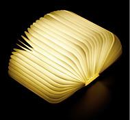 abordables -1pc Livre LED Night Light Blanc Crème Batterie Li intégrée Pliable Rechargeable Lumière décorative Avec port USB Transport Facile