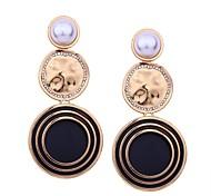 preiswerte -Damen Geometrisch / Lang Tropfen-Ohrringe - Perle überdimensional Orange / Rot / Blau Für Alltag / Verabredung