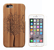 cheap -Case For Apple iPhone 6 Shockproof Full Body Cases Tree Hard Bamboo for iPhone 6s iPhone 6
